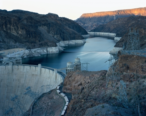 Hoover Dam and Lake Mead, Nevada, from the seriesAmerican Power.Chromogenic print, 45 x 58or 70 x 92 inches.