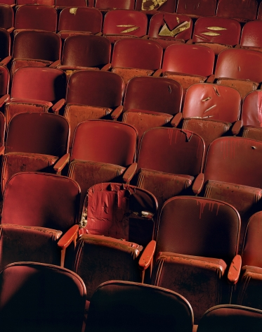 Red Chairs, Selwyn Theater, from the series New York, 1996. Archival pigment print. Available at 40 x 30 inches, edition of 10, or 50 x 40 inches, edition of 5, or 60 x 50 inches, edition of 3, or 90 x 70 inches, edition of 3.