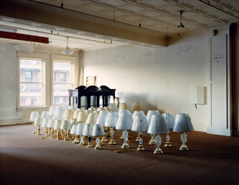Warehouse (Lamps in storeroom), from the series Family Business, 2000. Chromogenic print, 30 x 40 inches.