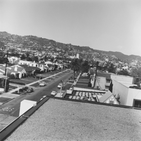 Untitled (Residential), fromRooftopseries, 25.5 x 25.5 inch silver gelatin print