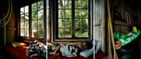Letting Go of The Day, 2008. Three-panel archival pigment print, available as 24 x 60 or 40 x 90 inches.