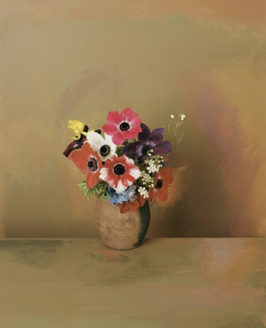 Photograph by Sharon Core titled 1907 from the series 1606-1907 of a floral still life arranged in the style of a classical painting
