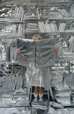 Lost in my Life (wrapped books), 2010, archival pigment print,34 x 24 inches,60 x 40 inches, or 90 x 60 inches.