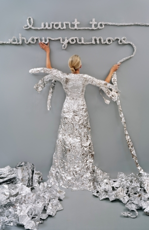 Lost in my Life (tin foil), 2012, archival pigment print,34 x 24 inches,60 x 40 inches, or90 x 60 inches.