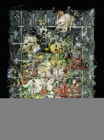 Ori Gersht,Becoming, Flower 02,2021. Archival pigment print, 43 1/4 x 31 1/2 inches.