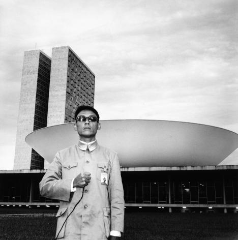 Brasilia, Brazil, 1984.Gelatin silver print, 16 x 16 inches.