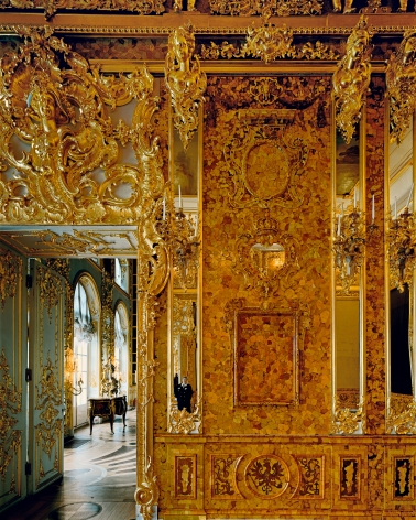 Amber Room, from the series Russia, 2003. Archival pigment print. Available at 40 x 30 inches, edition of 10, or 50 x 40 inches, edition of 5, or 60 x 50 inches, edition of 3, or 90 x 70 inches, edition of 3.