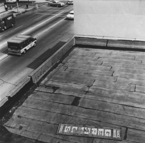 Untitled,fromRooftopseries, 25.5 x 25.5 inch silver gelatin print