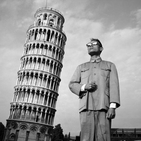 Pisa, Italy, 1989. Gelatin silver print, 16 x 16 inches.