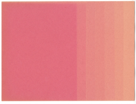 Pink Fade 2019. Construction paper and light, 12 x 9 inches.