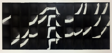 Jared Bark,Untitled, PB #1220,1976. Vintage gelatin silver photobooth prints, 7 7/8 x 18 3/4 inches. Unique.