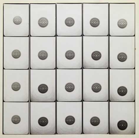 Untitled, PB #1081, 1975. Vintage gelatin silver photobooth prints, 7 7/8 x 7 7/8 inches.
