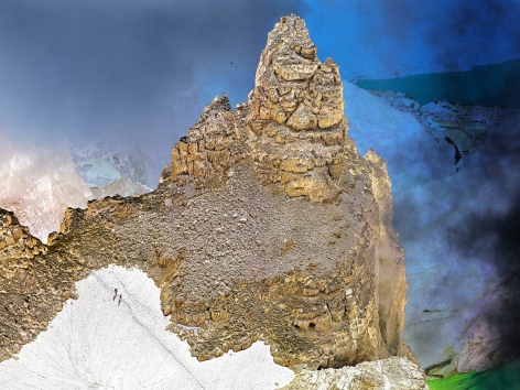The Dolomites Proect #13, 2010. 65 x 85 inch archival pigment print. Edition of 6.