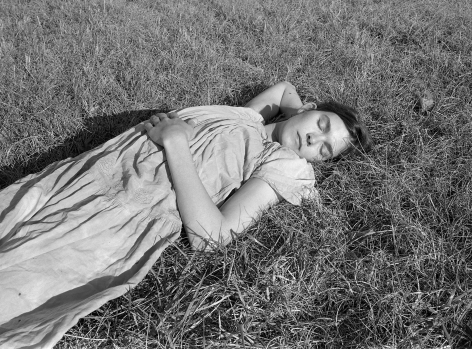 Mark Steinmetz, Carey in Full Sun, Farmington, GA, 1996. Gelatin silver print, 20 x 24 inches.