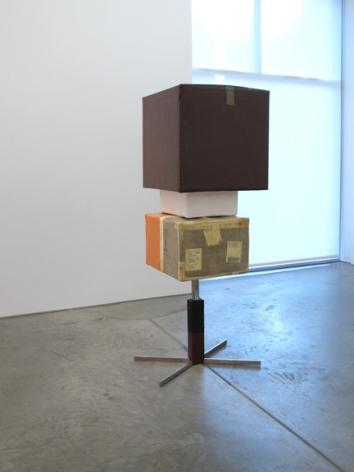 Una oportunidad cada dia, 2012, metal, cardboard, wood, resin, and paint, 72 x 27.5 x 23.5 inches, unique