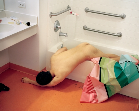 Death in a Bathtub,2014. Archival pigment print. From the seriesFrom One Land to Another.