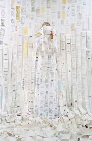 Lost in my Life (Receipts Back), 2016,archival pigment print,34 x 24 inches, 60 x 40 inches, or90 x 60 inches.