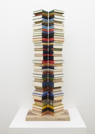 Split Stack,2017. Books, 52 x 10 1/4 x 20 1/4 inches.