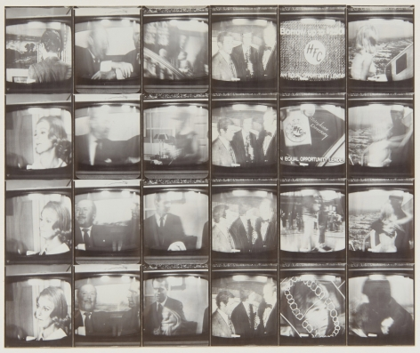 Untitled, PB #1159, 1974. Vintage gelatin silver photobooth prints, 7 7/8 x 9 1/4 inches.