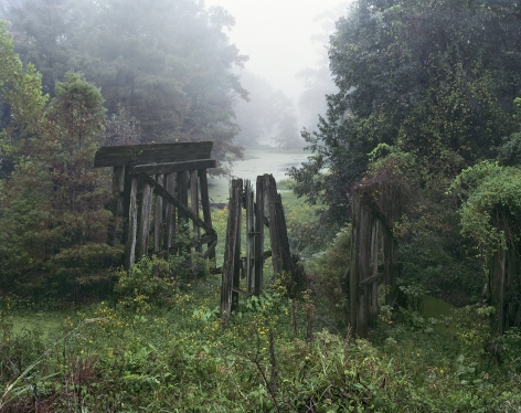 Trestle, Old Highway 61, MS, 2014. Archival pigment print.