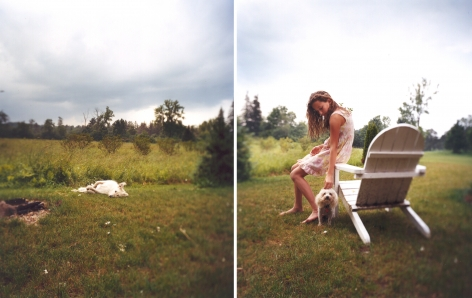 Eleanor's Dress, 2003. Two-panel archival pigment print, available as 24 x 40 or 40 x 60 inches.