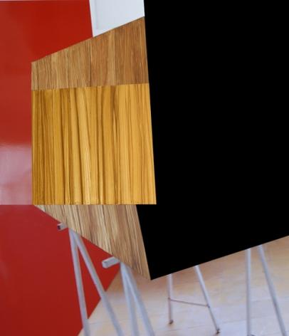 Brillo Doble 3D, 2014, acrylic paint on photograph, 36 x 41.5 inches, unique