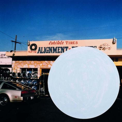 National City (2), 1996/2009,Chromogenic color print with acrylic paint,19.125 x 18.75 inches,Edition 10/12