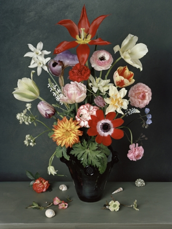 Photograph by Sharon Core titled 1627 from the series 1606-1907 of a floral still life arranged in the style of a classical painting