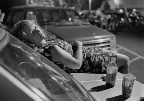 Mark Steinmetz, Athens, GA (Girl on Hood of Car), 1996. Gelatin silver print, 20 x 24 inches.