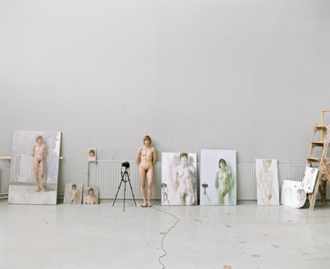 Elina Brotherus, Artists at Work 9, 2009. Archival pigment print. 27.5 x 34.5 inches