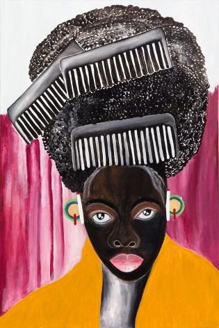 Phelela,2021. Acrylic on canvas, 70 7/8 x 47 1/4 inches.
