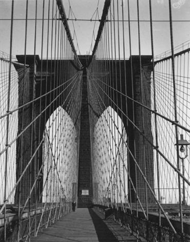 Brooklyn Bridge, New York 1946 Gelatin silver print