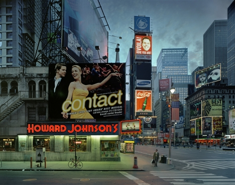 Contact, Times Square, from the series New York, 2002. Archival pigment print. Available at 30 x 40 inches, edition of 10, or 40 x 50 inches, edition of 5, or 50 x 60 inches, edition of 3.