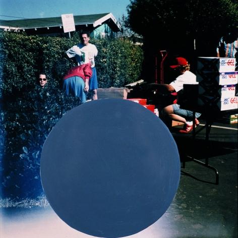 John Baldessari,National City #5, 1996/2009, 19 1/3 x 18 3/4 inch chromogenic print with acrylic paint.