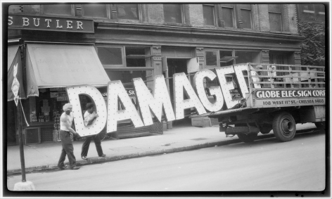 Walker Evans,Truck & Sign,c. 1929. Gelatin silver print, printed later, 8 x 10 inches.