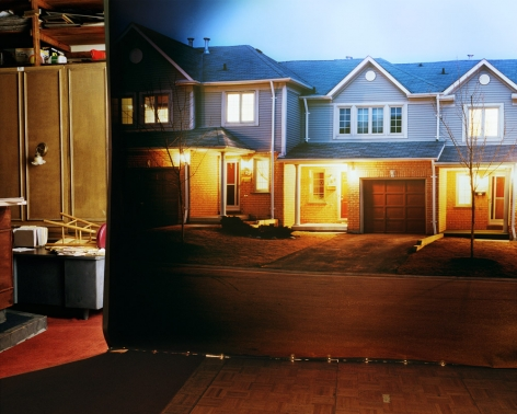 Suburban Street in Studio, from the series The Valley, 2000, 40 x 50 inch archival pigment print please inquire for additional sizes