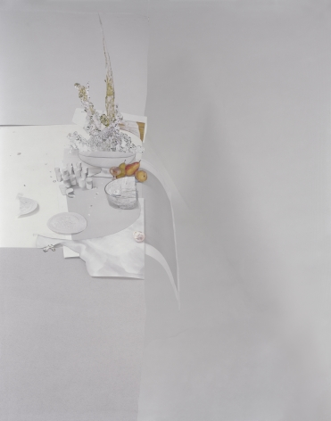 Laura Letinsky,Untitled #57, from the series Ill Form & Void Full, 2014. Archival pigment print, 53 1/2 x 43 1/4 inches.
