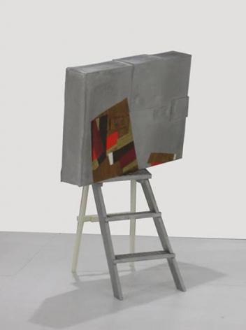 Felin's Ladder, 2007,cast aluminum and acrylic paint,48 x 35 x 31.5 inches,unique