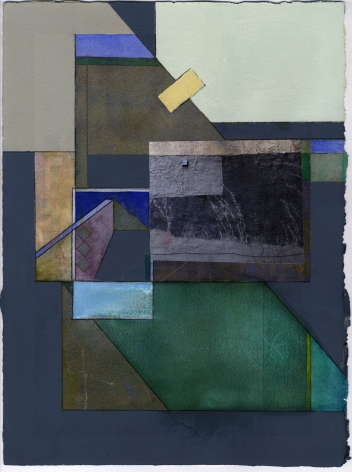 Mary Lum,Untitled V,2021. Collage, 14x 11 inches.
