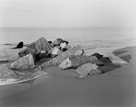 Coney Island, Brooklyn, from the series Rocks and Clouds, 2014. Gelatin silver print,30 x 40or 54 x 68 inches.