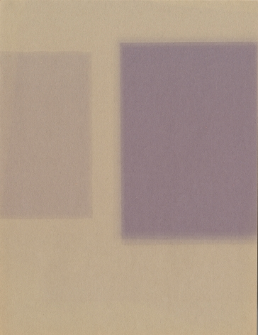Violet Planes, 2019. Construction paper and light, 12 x 9 inches.