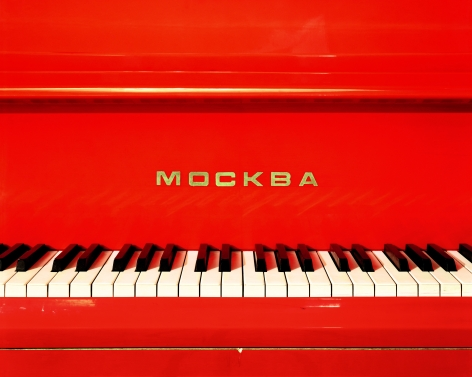 Red Piano, Pioneer Camp Artek, Yalta, from the series Russia, 2003. Archival pigment print. Available at 30 x 40 inches, edition of 10, or 40 x 50 inches, edition of 5, or 50 x 60 inches, edition of 3, or 70 x 90 inches, edition of 3.