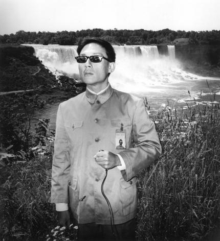 Niagara Falls, New York, 1984.Gelatin silver print, 16 x 16 inches.