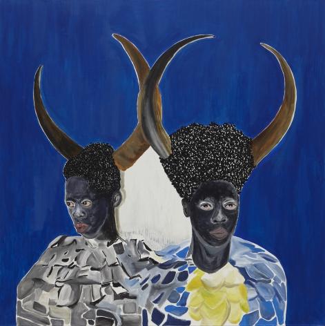 Zibuyile,2021. Acrylic on canvas, 71 x 71 inches.