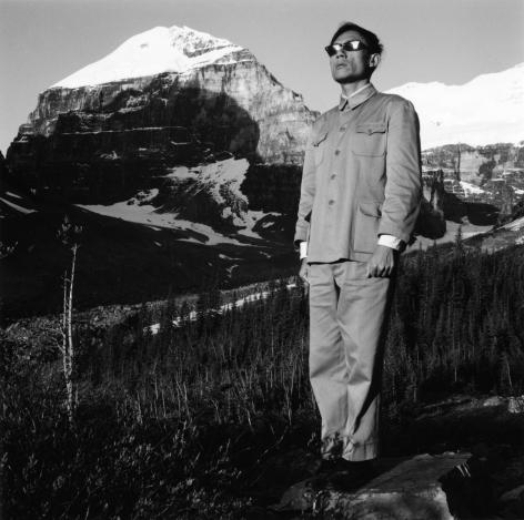 Canadian Rockies, 1986. Gelatin silver print, 16 x 16 inches.