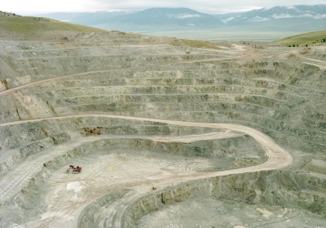 Untitled (Talc mine with truck), Cameron, Montana, 2009, 39 x 55 or 55 x 77 inch chromogenic print