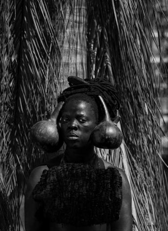 Zanele Muholi, Calabashe, Emhlabeni, 2019. Gelatin silver print, 27 1/8 x 19 5/8 inches.