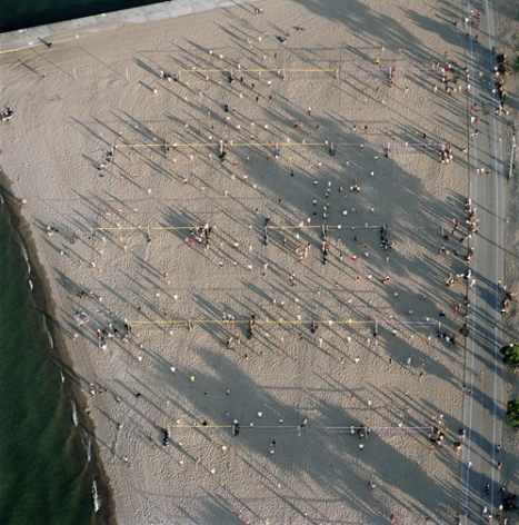 Volleyball, North Avenue beach, from the series Revealing Chicago, 2003, 30 x 30 or 40 x 40 inch chromogenic print