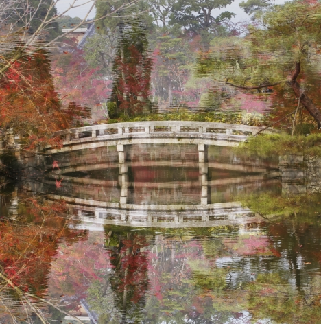 Floating Bridge, from the seriesFloating World,2016, 47 1/4 x 47 1/4 inch archival pigment print