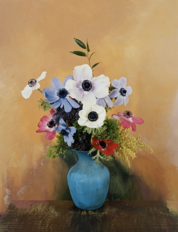 Photograph by Sharon Core titled 1905 from the series 1606-1907 of a floral still life arranged in the style of a classical painting